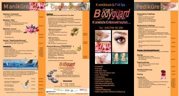 bodyguard flyer 2012 Druckvorlage.cdr - Kosmetikstudio & Fish Spa ...