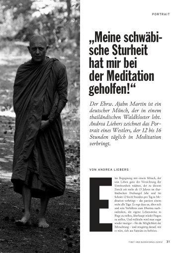 Meine schwäbische Sturheit hat mir bei der Meditation geholfen!