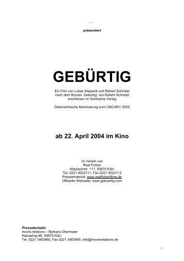 GEBÜRTIG - Real Fiction