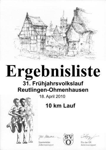 31. Frühjahrsvolkslauf Reutlingen ... - sport-log.de - Rad