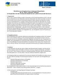 Richtlinien zur Vergabe eines Lindemann-Stipendiums der Dr ...