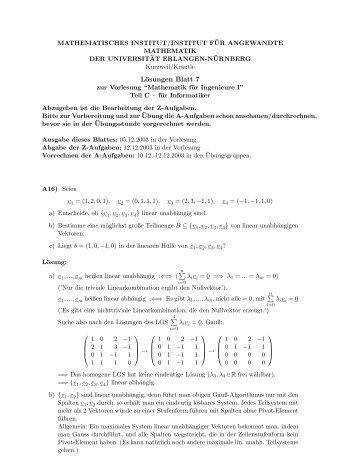 Lösungen Blatt 7