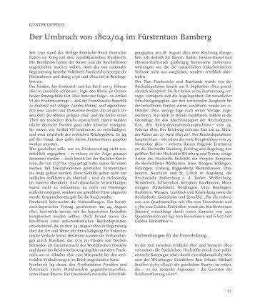 Der Umbruch von 1802/04 im Fürstentum ... - Bezirk Oberfranken