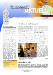 April 2013 - PDF - 2., Pfarre St. Leopold