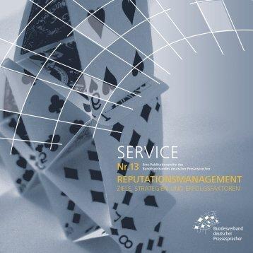 SERVICE - Bundesverband  deutscher Pressesprecher eV