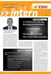 Liebe Parteifreundinnen und Parteifreunde, - CDU - Titisee- Neustadt