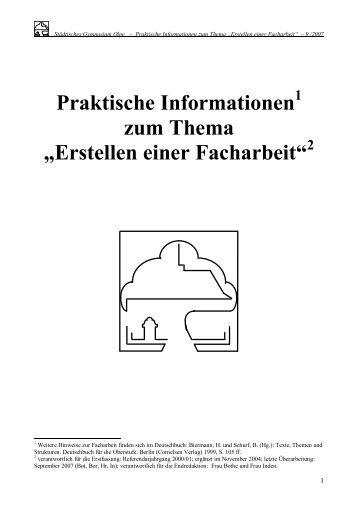 Facharbeiten Information