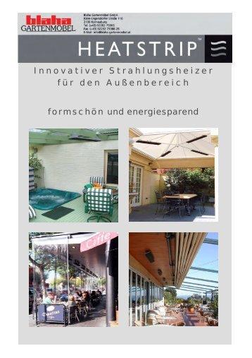 Innovativer Strahlungsheizer für den Außenbereich formschön und ...