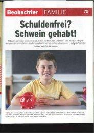 Schuldenfrei? Schwein gehabt! (Beobachter, 18.07.2011) - bei Pro ...
