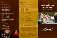 Kulinarischer Kalender - Hotel Ascari