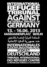 PDF Programm deutsch - Refugee Tribunal against Germany