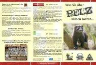 Pelz-Flyer - Menschen für Tierrechte Nürnberg eV