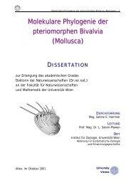 Molekulare Phylogenie der pteriomorphen Bivalvia - Website Dr ...