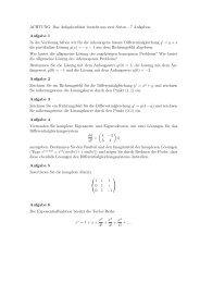 Weitere Hausaufgaben zu Eigenwerten/Differentialgleichungen