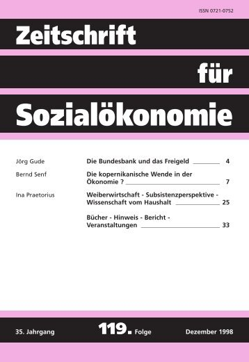 ZfSÖ 119 - Basislayout - Zeitschrift für Sozialökonomie