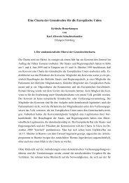 Eine Charta der Grundrechte für die Europäische Union