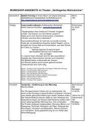 Spielplan März 2013 Theater Verlängertes Wohnzimmer