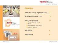 Überblick - Metro Group
