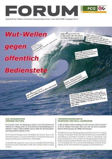 Wut-Wellen gegen öffentlich Bedienstete - Gewerkschaft der ...