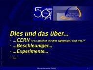 CERN - Einführung - Teilchenphysik in Deutschland