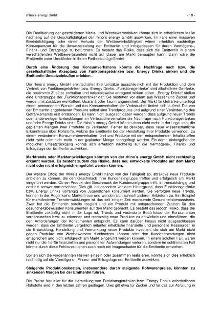 13-04-08 rhino Anleiheprospekt clear - Die rhino's-energy-Anleihe
