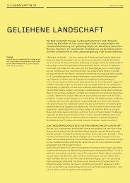 GELIEHENE LANDSCHAFT - Gadient Landschaftsarchitekten