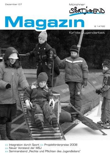 MSJ-Magazin 4/2007 - Münchner Sportjugend