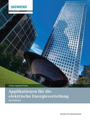 Applikationen für die elektrische Energieverteilung - Siemens
