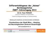 Differentialdiagnose des Kleinen Gerinnungsstatus ÖGBT 2013