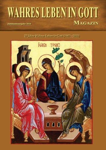 WLIG Magazin als PDF zum downloaden - Das wahre Leben in Gott