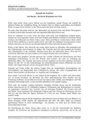 San Marino die älteste Demokratie der Welt - Thomas Ritter Reisen