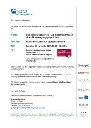Einladung Seminar November - Marketingclub Saar