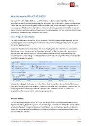 Was ist neu in Win-CASA 2009? - Software24.com GmbH