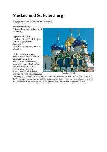 Moskau und St. Petersburg - Eine Welt Reisen
