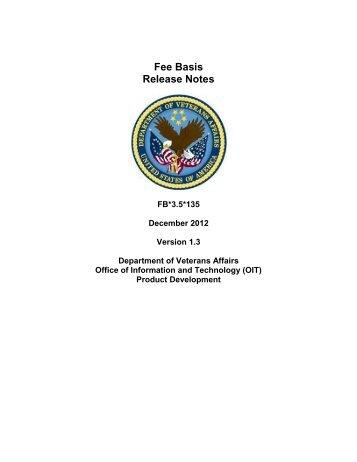 FB*3.5*135 Release Notes - US Department of Veterans Affairs