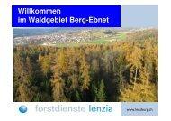 Willkommen im Waldgebiet Berg-Ebnet - Niederlenz