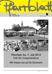 Juni 2013 - Pfarre Vorchdorf - Diözese Linz