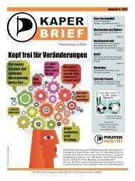 Kopf frei für Veränderungen - Piratenzeitung aus Berlin