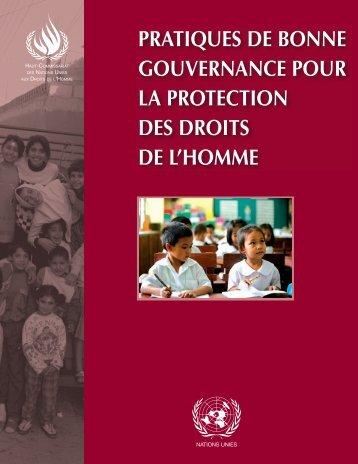 pratiques de bonne gouvernance pour la protection des droits