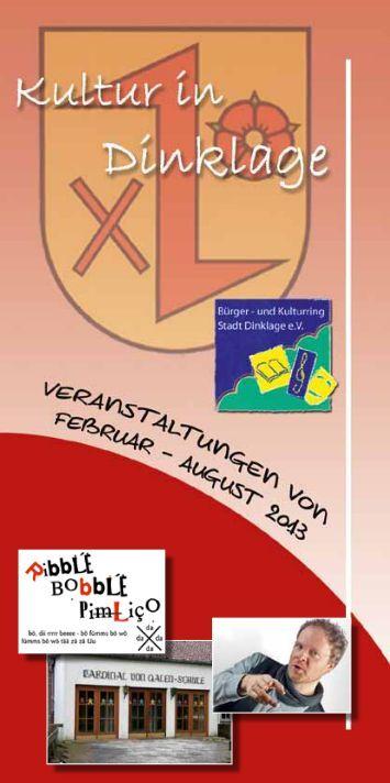 Kulturkalender 1. Halbjahr 2013 - Kulturring Dinklage