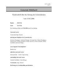 Protokoll vom 15.02.2006 - .PDF - Mühlbachl