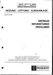 HEIZUNG - LÜFTUNG - KLIMAANLAGE PEUGEOT - peugeot605.eu