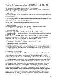 Protokoll der Kreisvorstandsitzung DIE LINKE vom 24.03.2012: