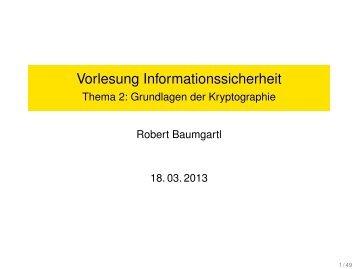 Teil 2: Grundlagen der Kryptographie
