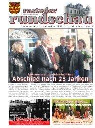 rasteder rundschau, Ausgabe Dezember 2009