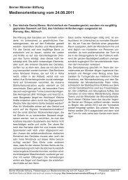 Pressetext - Berner Münster-Stiftung