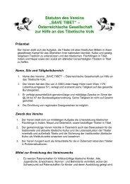 Statuten des Vereins - Save Tibet