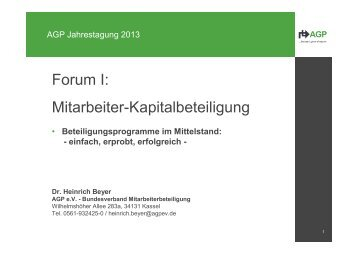 Vortrag - AGP