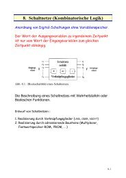 8. Schaltnetze (Kombinatorische Logik)