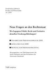Editorial - Osnabrücker Friedensgespräche - Universität Osnabrück